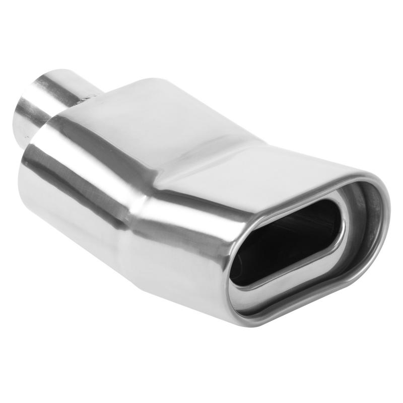 MagnaFlow Exhaust Products Single Exhaust Tip - 2.25in. Inlet/2.75 x 5.25in. Outlet - 35176