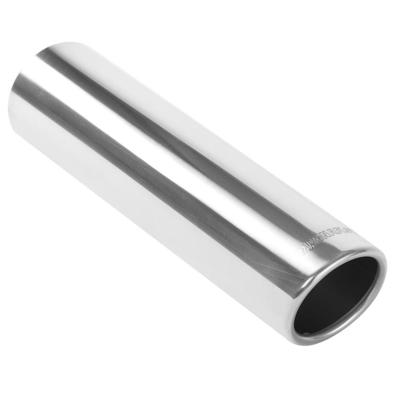 MagnaFlow Exhaust Products Single Exhaust Tip - 2.5in. Inlet/3in. Outlet - 35204