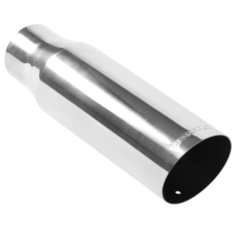 MagnaFlow Exhaust Products Single Exhaust Tip - 2.5in. Inlet/3.5in. Outlet - 35205
