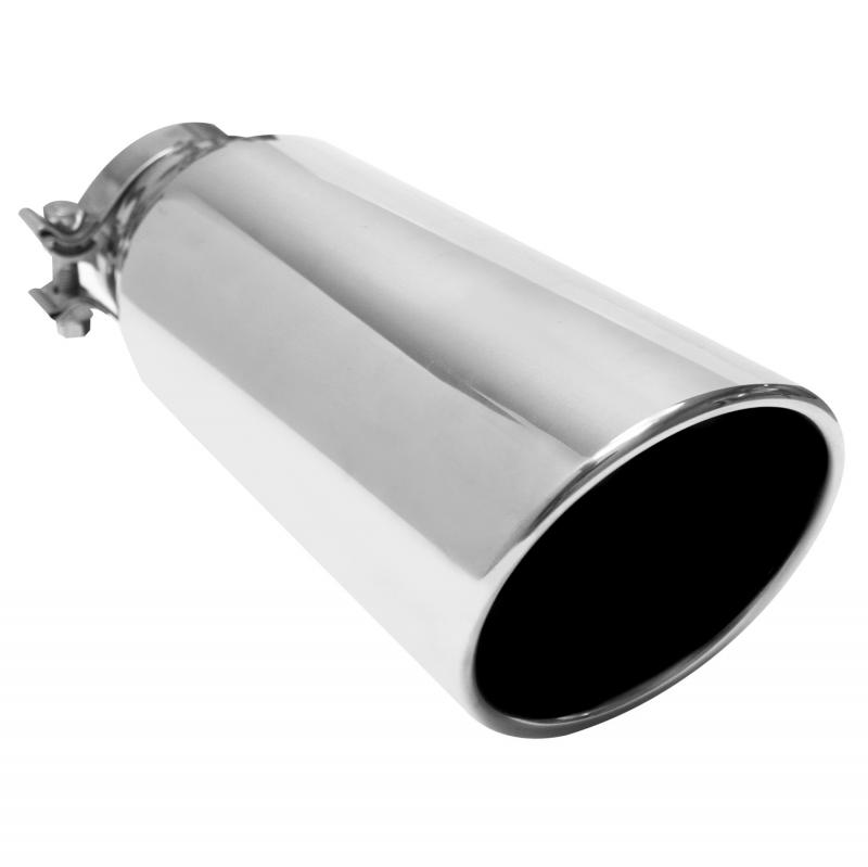 MagnaFlow Exhaust Products Single Exhaust Tip - 4in. Inlet/5in. Outlet - 35214