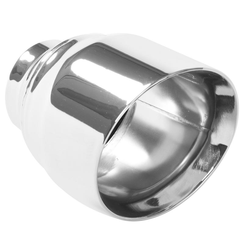 MagnaFlow Exhaust Products Single Exhaust Tip - 2.5in. Inlet/4.5in. Outlet - 35224