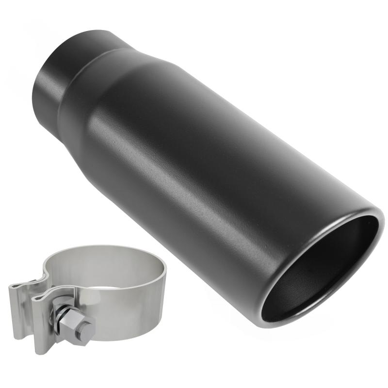 MagnaFlow Exhaust Products Single Exhaust Tip - 3in. Inlet/4in. Outlet - 35236