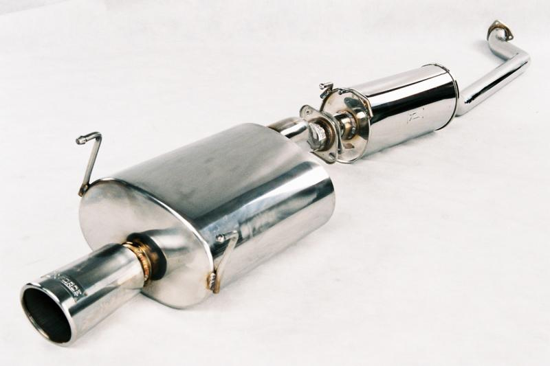 XForce Acura Integra DC Stainless Steel CatBack System With Oval - 1990 acura integra muffler