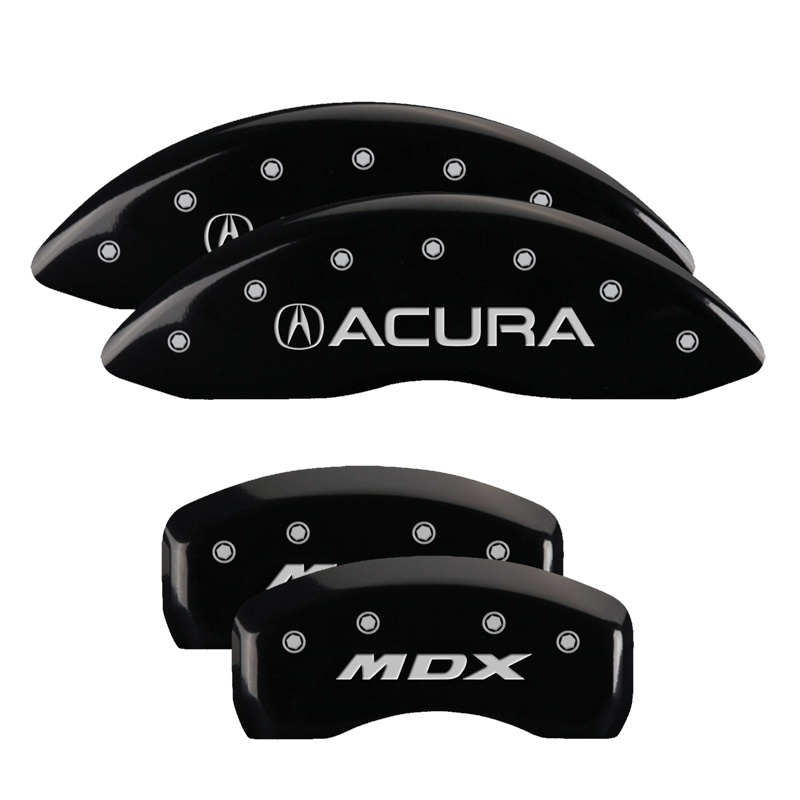 MGP Caliper Covers Set Of 4: Black Finish, Silver Acura