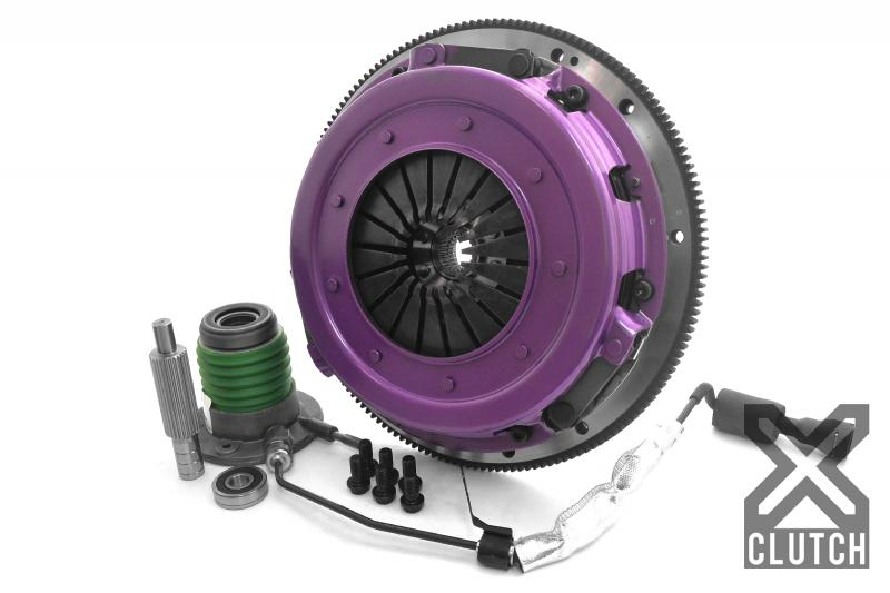 XClutch Clutch Kit with Chromoly Flywheel + HRB 10.5 and Twin Solid Organic Discs Chevrolet - XKCR27631-2G