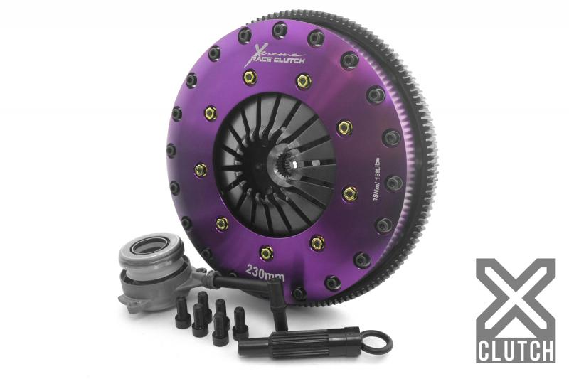 XClutch Clutch Kit with Chromoly Flywheel + HRB 9-Inch and Twin Solid Ceramic Clutch Discs Volkswagen Golf R 2012-2013 2.0L 4-Cylinder - XKVW23696-2E