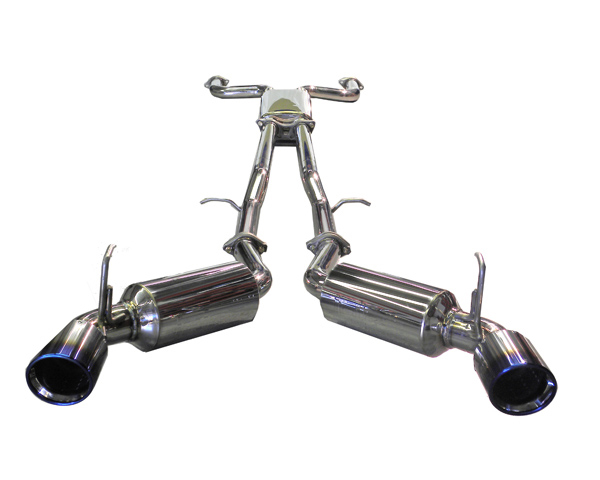 Image of Injen Dual 60mm Stainless Cat Back Exhaust w X-pipe Titanium Tips Nissan 370Z 09-14
