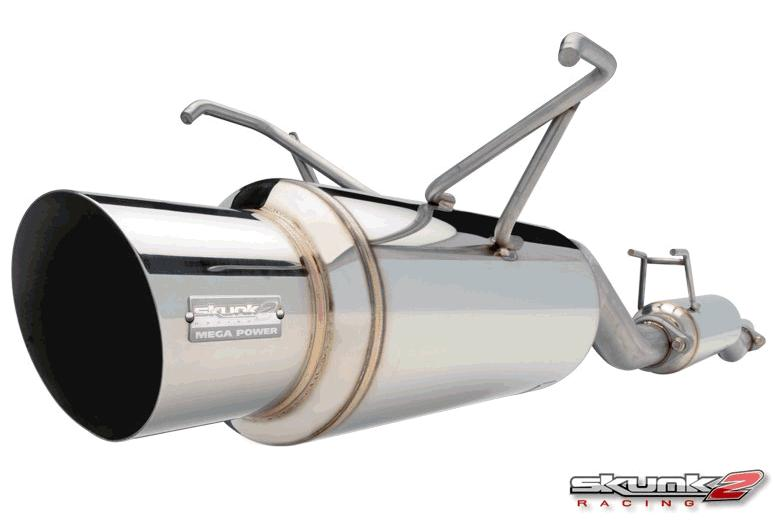 Skunk2 Mega Power RR 76mm Catback Exhaust Honda Civic Hatchback 92-95 - 413-05-6010