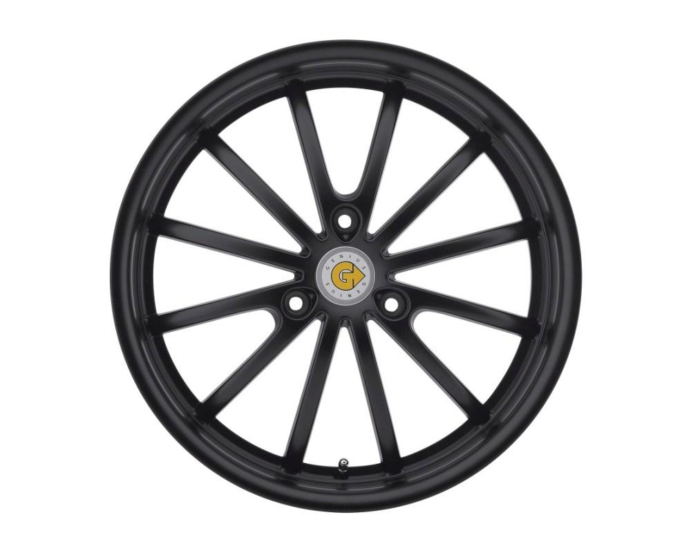 Genius Darwin Matte Black Wheel 15x5.5 3x112 25mm CB57.1 - 1555GED253112B57