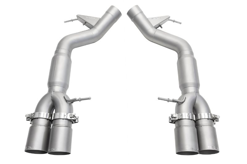 Soul Performance Resonated Muffler Bypass Exhaust 3.5 Inch Straight Cut Single Wall Satin Tips BMW M6 F06 | F12 | F13 13-18 - BMW.M6.MB.SWT