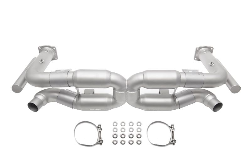 Soul Performance Competition X-Pipe Exhaust System with Cat Bypass Pipes Reuse factory tips Porsche 996 Turbo 00-05 - POR.996T.XESCB.OE