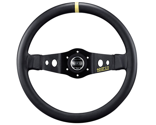Image of Sparco 215 Leather Universal Racing Steering Wheel