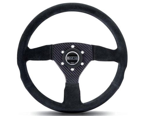 Sparco 385 Suede Universal Racing Carbon Fiber Steering Wheel - 015RC385SN