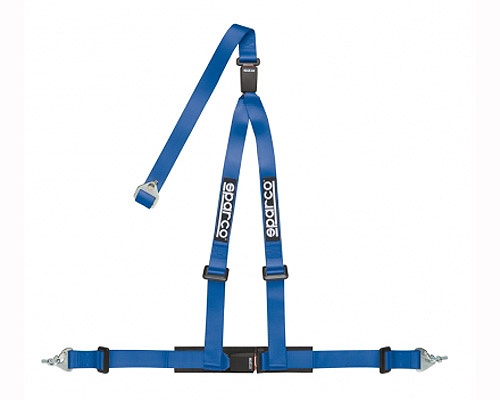 Sparco 2 Inch Tuner 3-Point Double Buckle Harness Blue - 04608DFAZ
