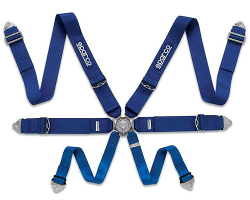 Sparco Competition 6-Point Pull Up Style Harness Blue - 04827BMAZ