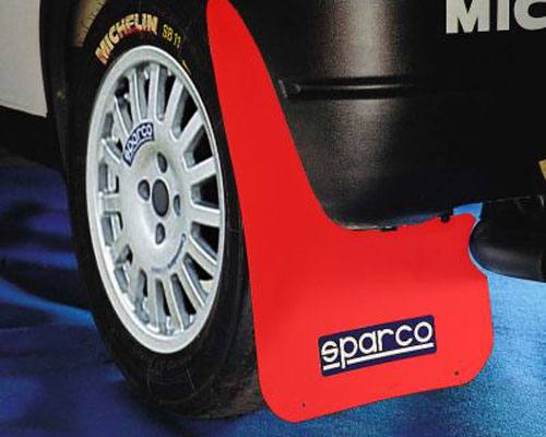 Sparco Red Universal Rally Mud Flaps - 03791RS