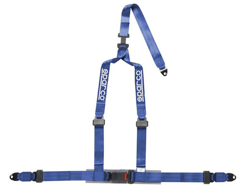 Image of Sparco 2 Inch Tuner 3-Point Bolt-In Harness Blue
