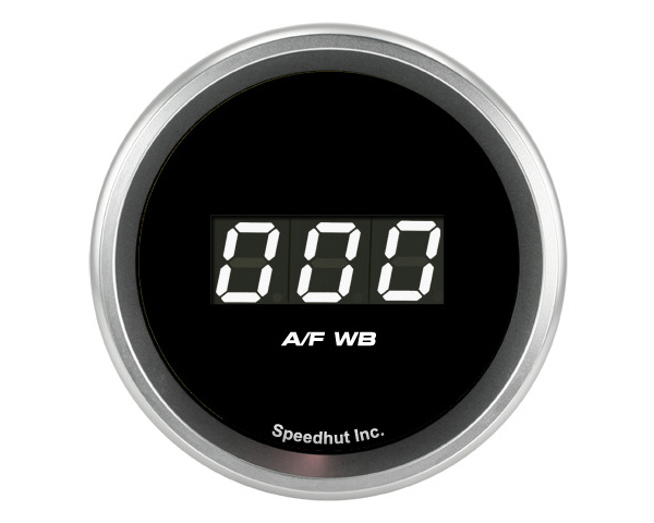 Image of SpeedHut AirFuel Digital Gauge Wide Band 8.5-18 with Easy Touch Bezel FOR AEM