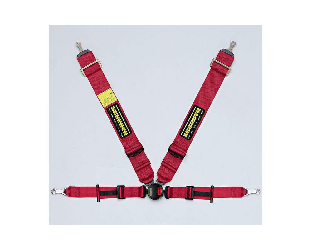Schroth Racing Harness P2 4 FE asm Bolt PU Red RT - sr 25271
