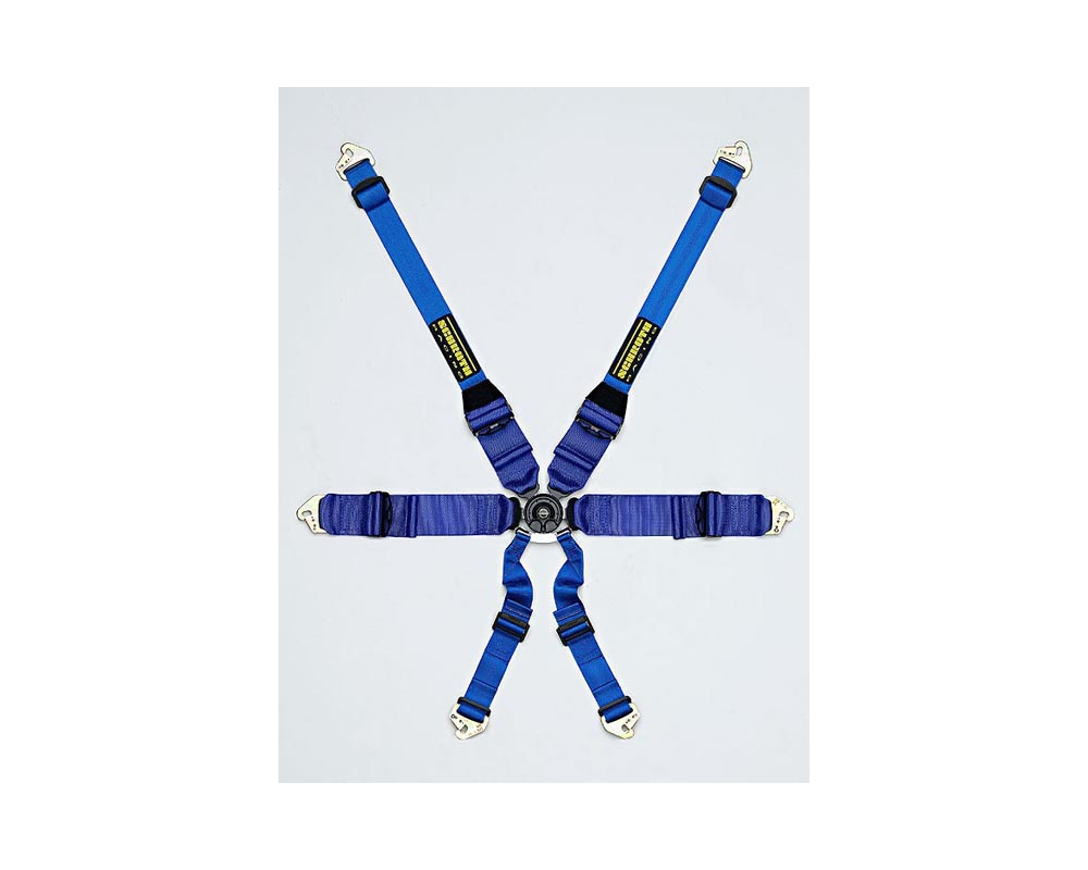 Schroth Racing Profi III 6 HANS Blue PD Belt LA-Bolt - sr 41121-6-H
