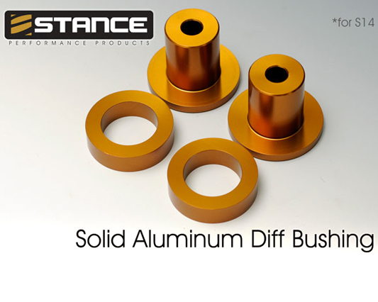 Stance Solid Aluminum Differential Bushings Nissan 240SX 95-98 - ST-20