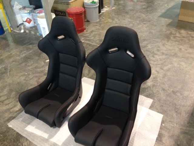 Image of Status Racing Ring GT-X Red Carbon Fiber Bucket Seat Leather