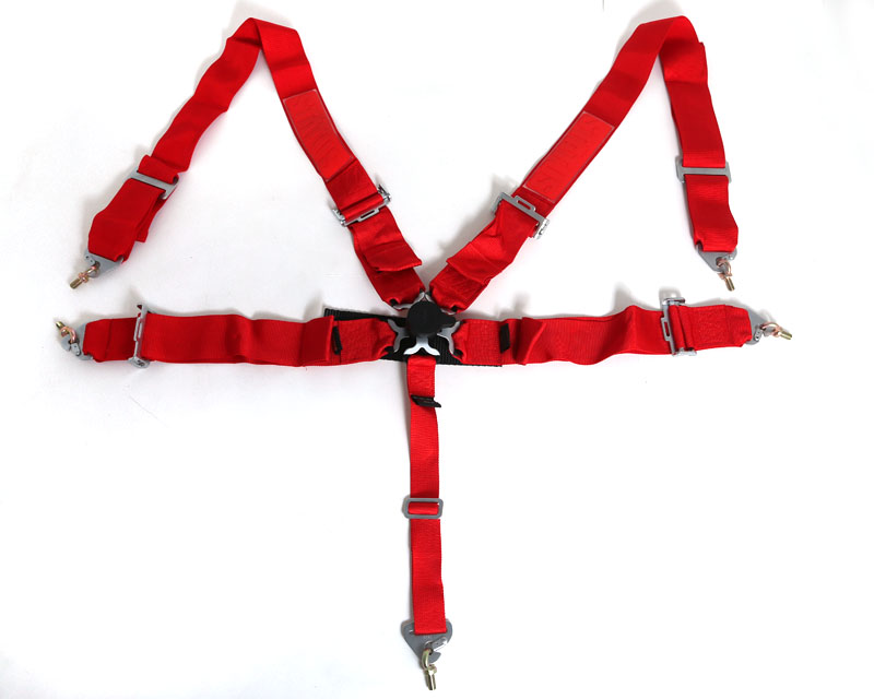 Image of Status Racing 3 Inch 5 Point Cam Lock Harness Kit Red - FIA Approved