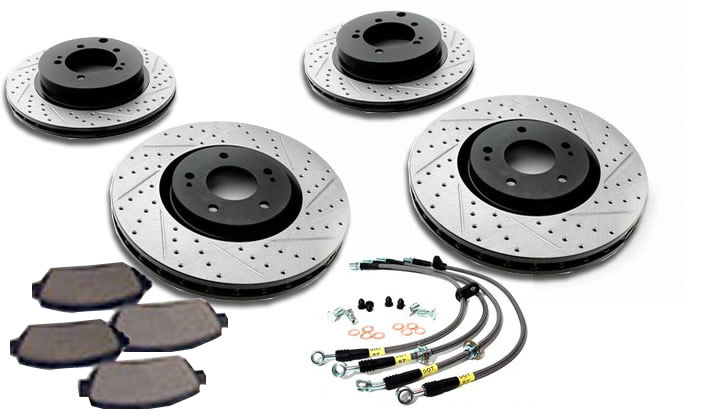 StopTech Sport Brake Slotted & Drilled Kit Honda Civic Si 06-09