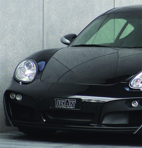 TechArt Front Spoiler Type 2 with Chrome Running Lights Porsche Cayman with OE DRL 06-13 - 087.100.123.009CHR