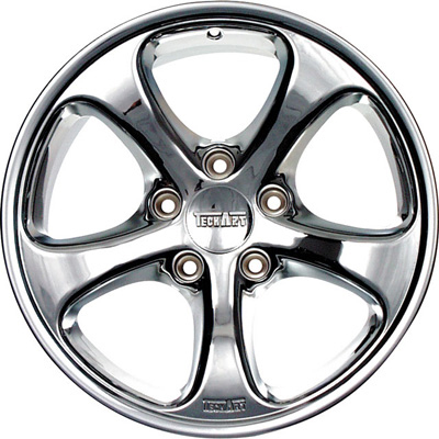 TechArt Formula Wheel Chrome 19x11 25mm Porsche 996 Turbo GT2 01-05 - 996.210.119.025C