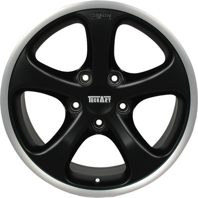 TechArt Formula GT Wheel Black 18x8.5 50mm Porsche 95-12 - 996.210.858.050GT