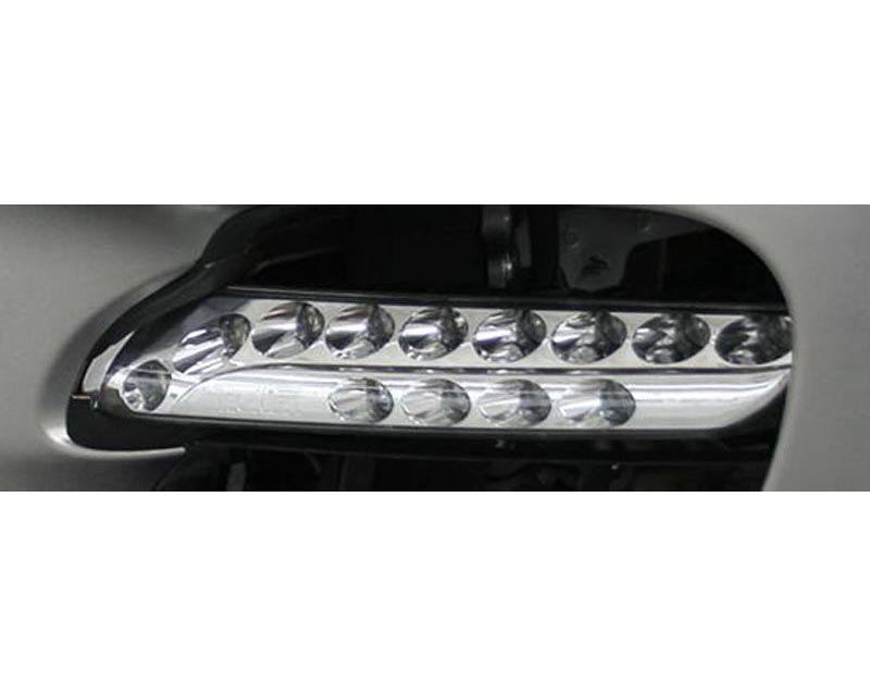 TechArt Multifunction Daytime Running Lights Chrome Finish Porsche Panamera Turbo 10-13 - 070.180.180.009CHR