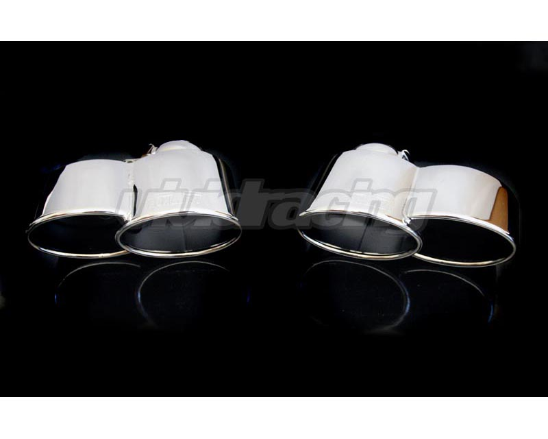 TechArt Twin Oval Chrome Exhaust Tips Porsche 997 TT 07-09 - 097.310.950.009
