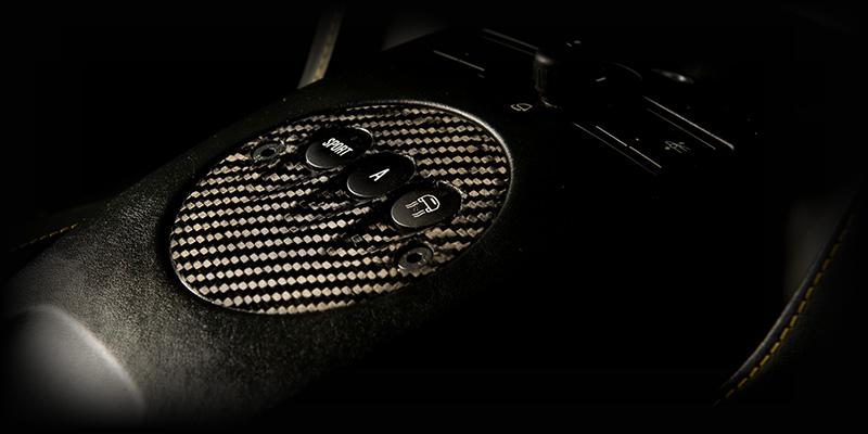 Tecnocraft Dry Carbon Fiber E-Gear Plate Accent Lamborghini Gallardo 04-12 - LG-EG001C/K