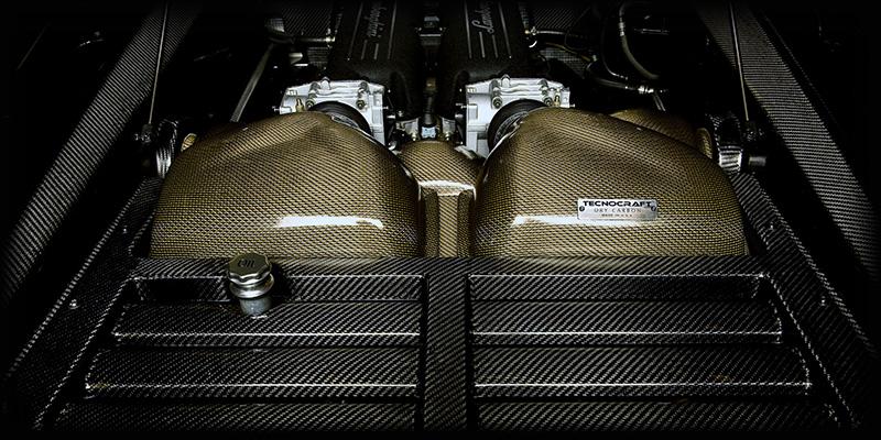 Tecnocraft Dry Carbon Fiber Engine Cover Lamborghini Gallardo 04-12 - LG-EC001C/K