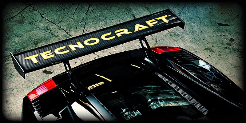 Tecnocraft Dry Carbon Fiber GT Wing Lamborghini Gallardo 04-12 - LG-GW001C/K