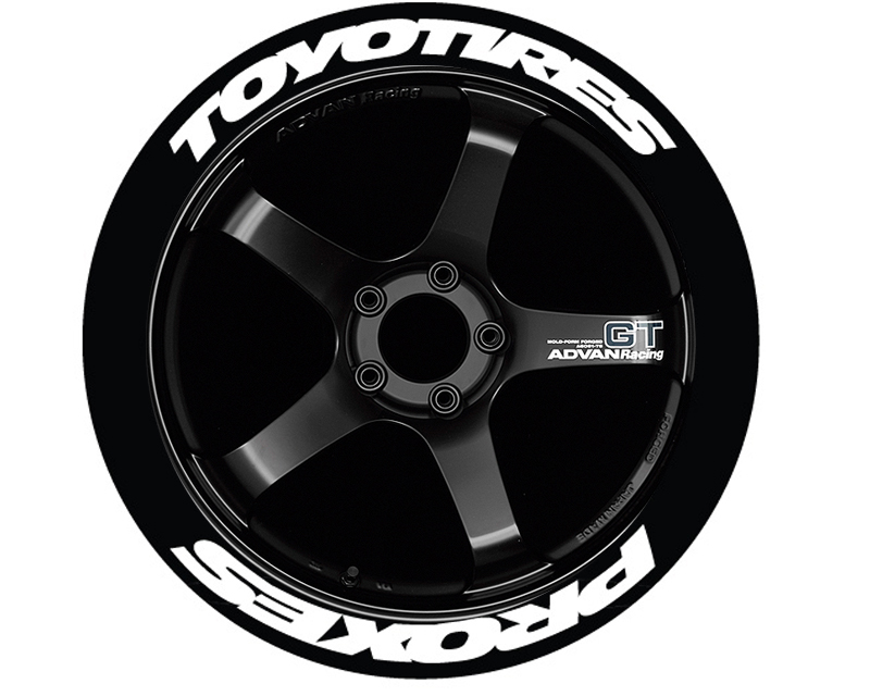 Tire Stickers 'Toyo Tires Proxes Stretch' Permanent Raised Rubber Lettering - TS-TOYPROXSTR-RR
