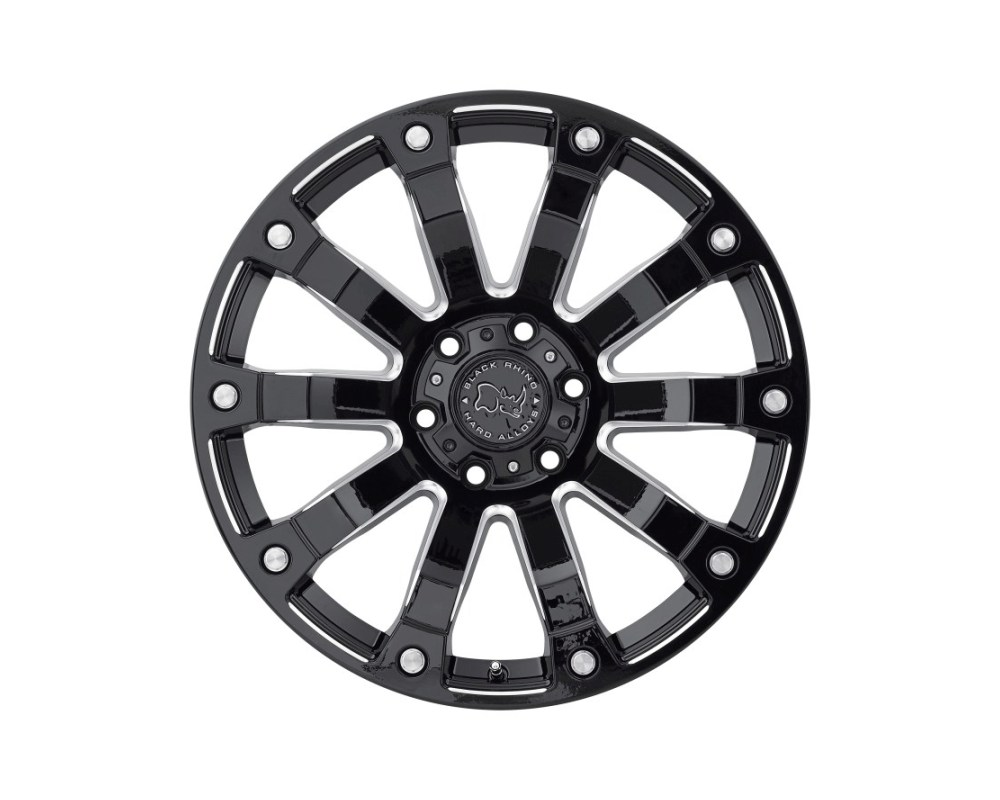 Black Rhino Selkirk Gloss Black Milled Wheel 17x9 5x127|5x5 -12mm CB78.1 - 1790SLK-25127B78