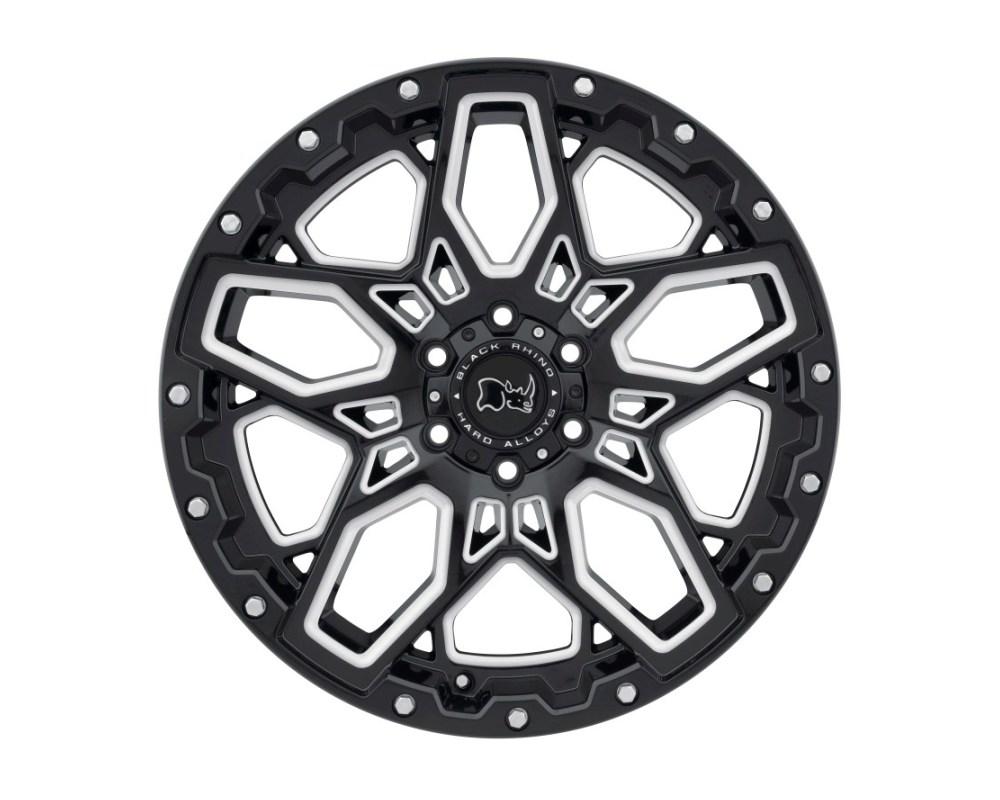 Black Rhino Shrapnel Gloss Black w/ Milled Spokes Wheel 17x9.5 5x139.70|5x5.5 0mm CB78.1 - 1795SHR005140B78