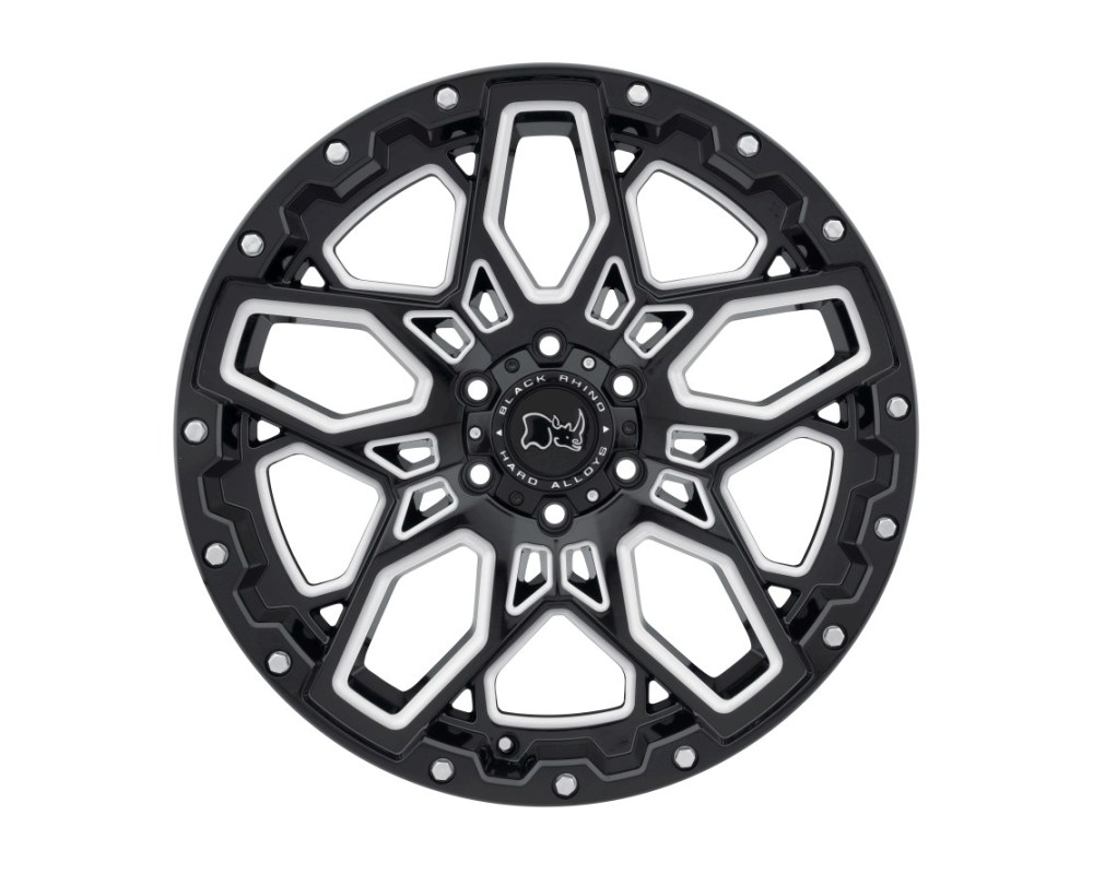 Black Rhino Shrapnel Gloss Black w/ Milled Spokes Wheel 18x9.5 6x139.70|6x5.5 12mm CB112.1 - 1895SHR126140B12