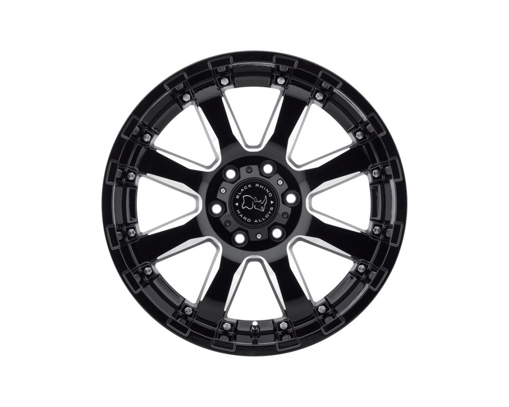 Black Rhino Sierra Gloss Black w/ Milled Spokes Wheel 20x9 6x139.70|6x5.5 12mm CB112 - 2090SRA126140B12