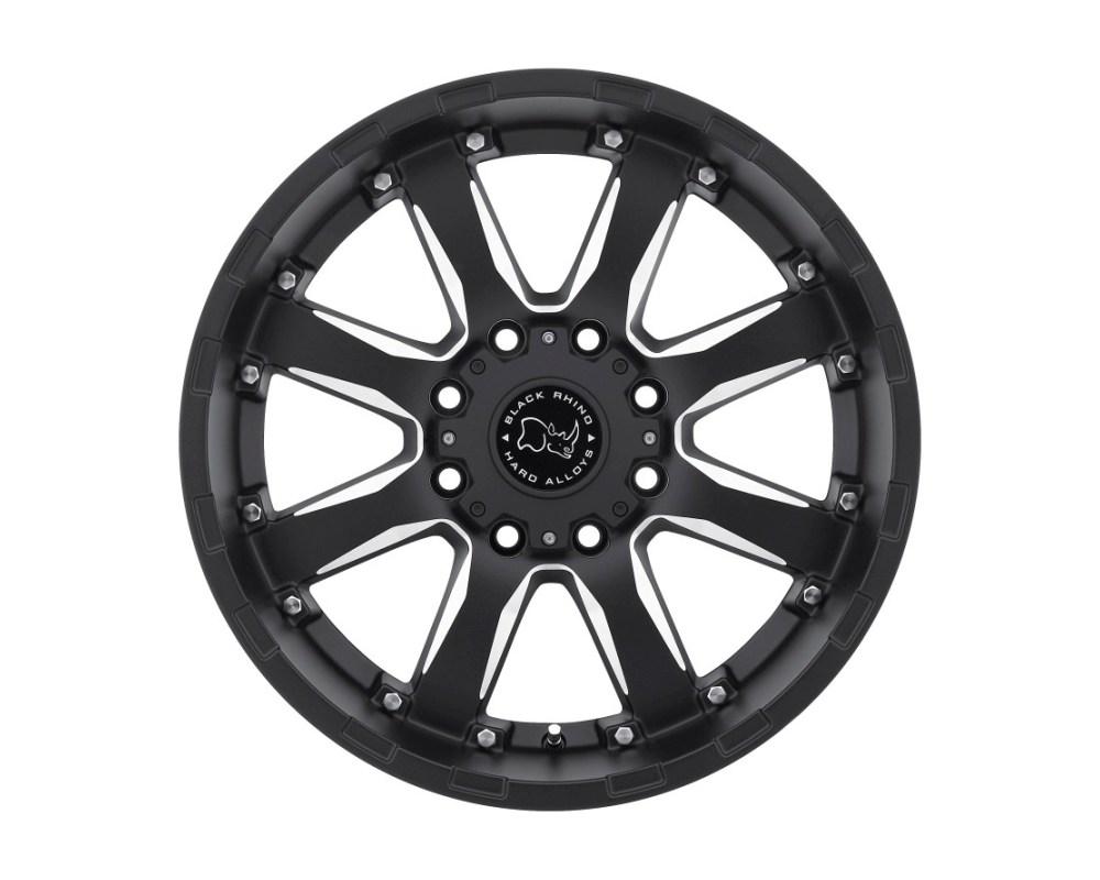 Black Rhino Sierra Gloss Black w/ Milled Spokes Wheel 17x9 8x165.10|8x6.5 12mm CB122 - 1790SRA128165B22