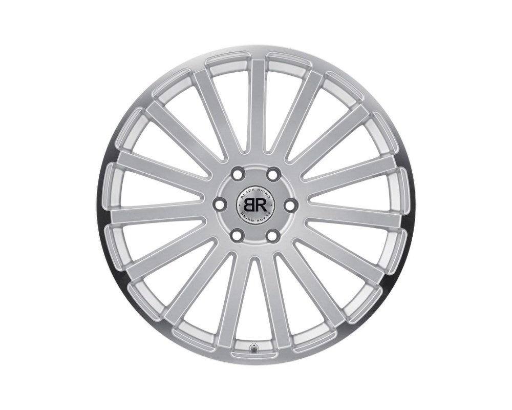 Black Rhino Spear Silver w/ Mirror Cut Lip Edge Wheel 22x9.5 5x139.70|5x5.5 20mm CB78.1 - 2295SPR205140S78