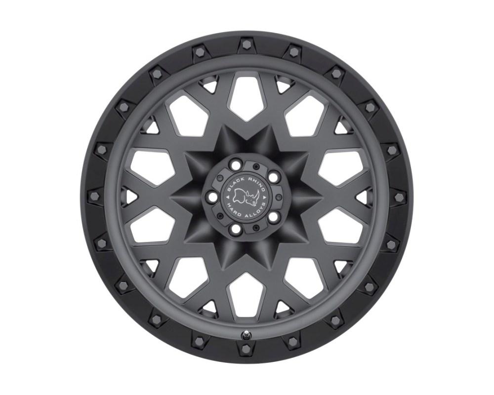 Black Rhino Sprocket Matte Gunmetal w/ Black Lip Edge & Gunmetal Bolts Wheel 20x9.5 5x139.70|5x5.5 0mm CB78.1 - 2095SPK005140G78
