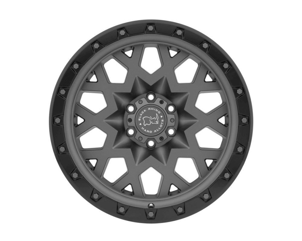 Black Rhino Sprocket Matte Gunmetal w/ Black Lip Edge & Gunmetal Bolts Wheel 17x9.5 6x135 6mm CB87.1 - 1795SPK066135G87