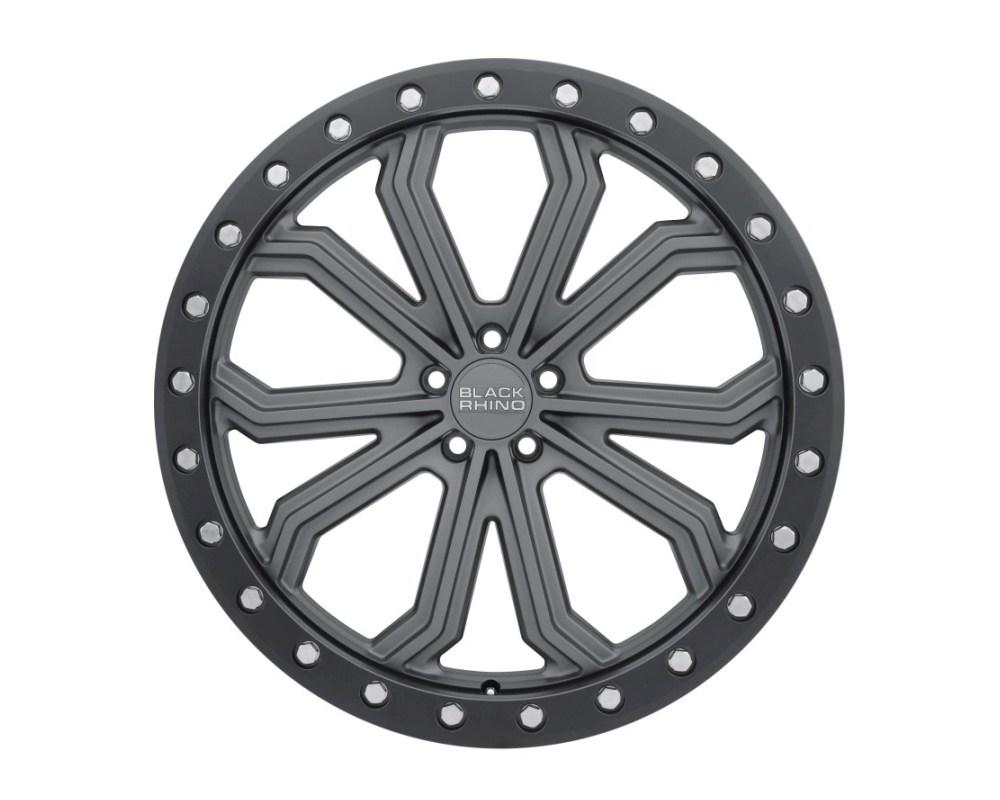 Black Rhino Trabuco Matte Gunmetal w/ Black Lip Edge & Silver Bolts Wheel 17x8 5x114.30|5x4.5 30mm CB76.1 - 1780TBC305114G76