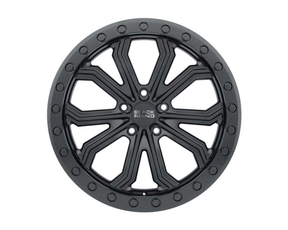 Black Rhino Trabuco Matte Black w/ Black Bolts Wheel 18x8 5x127|5x5 30mm CB71.6 - 1880TBC305127M71