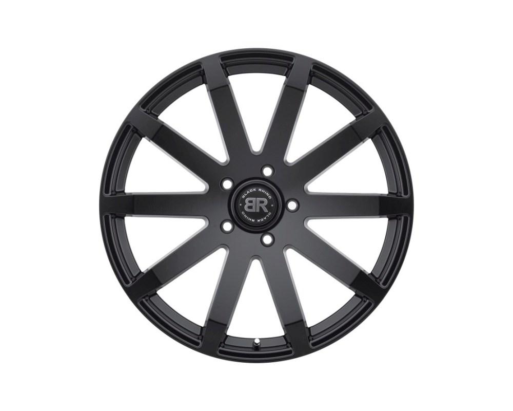Black Rhino Traverse Matte Black Wheel 24x10 5x139.70 5x5.5 25mm CB78 - 2410TRV255140M78
