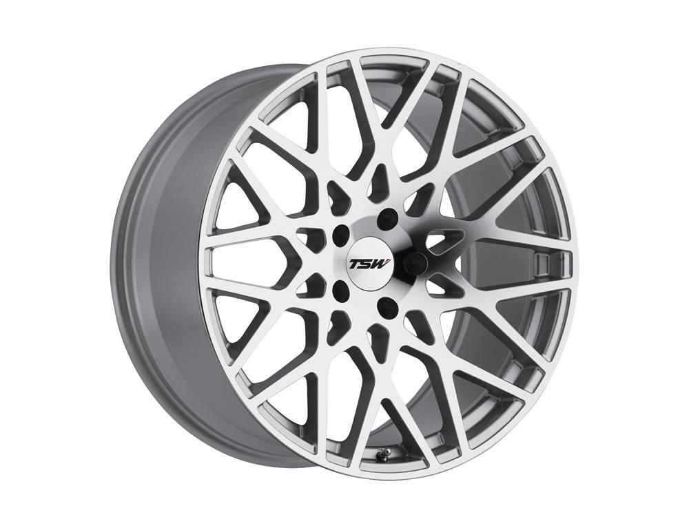 TSW Vale Silver w/Mirror Cut Face Wheel 19x9.5 5x114.3 40mm - 1995VLE405114S76