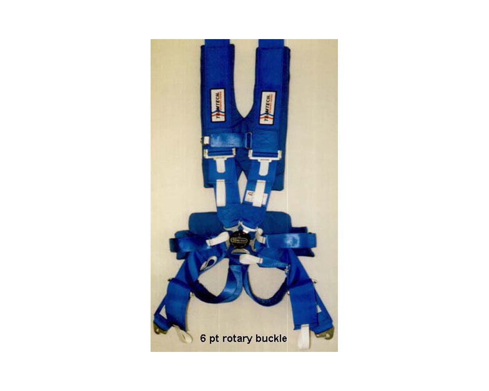 Team Tech 6 PT Ram Pac Latch-Link Snap-In Harness Blue - TT-6007B